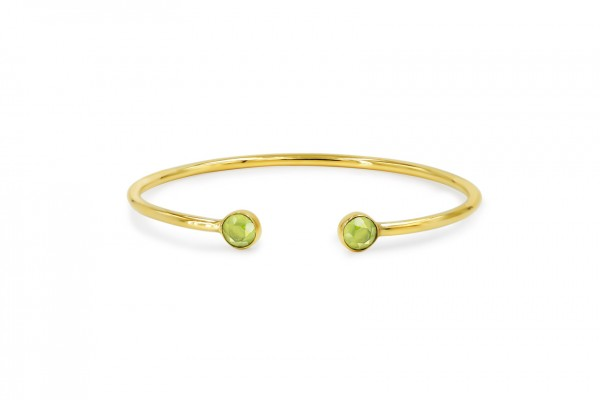ESSENZ ARMREIF - PERIDOT & GOLD
